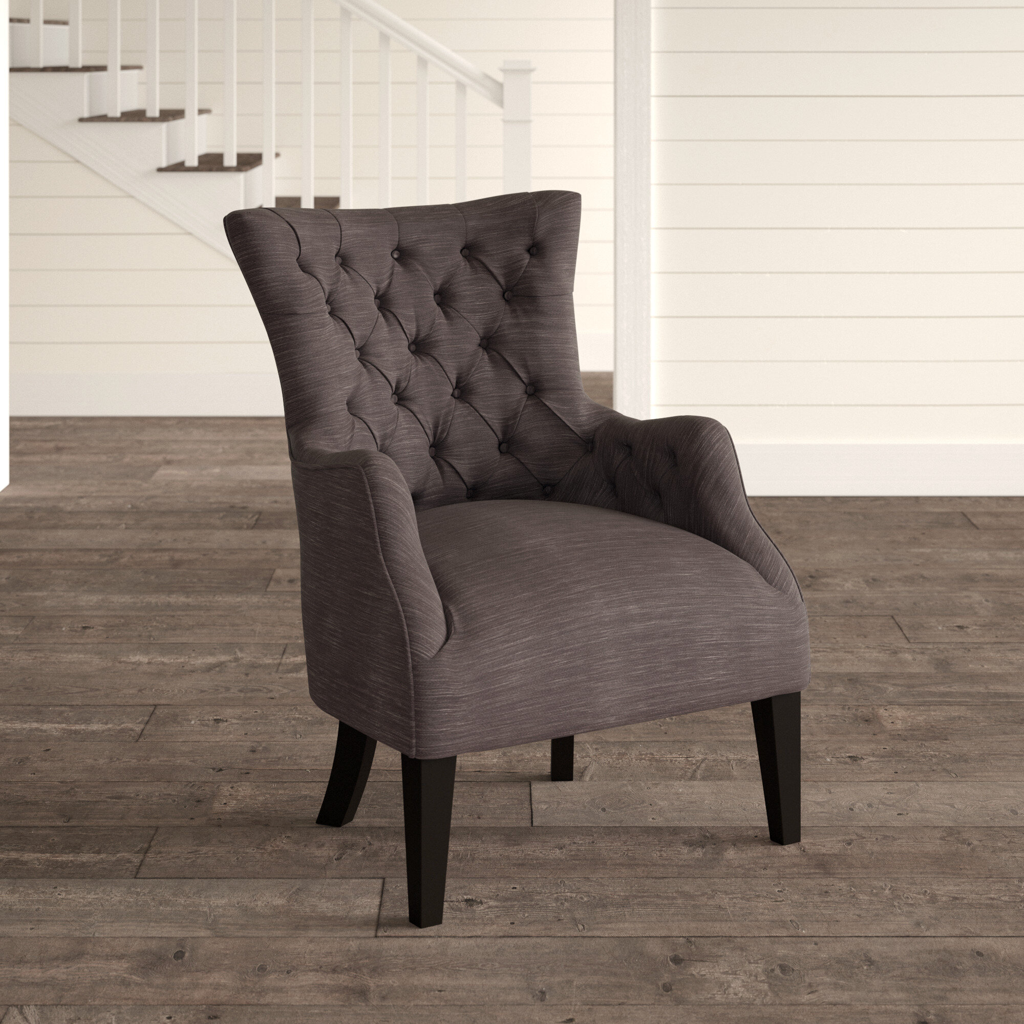 Birch Lane 30 25 Wide Tufted Polyester Wingback Chair Reviews Wayfair Ca
