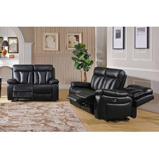 Muoi Reclining 2 Piece Living Room Set
