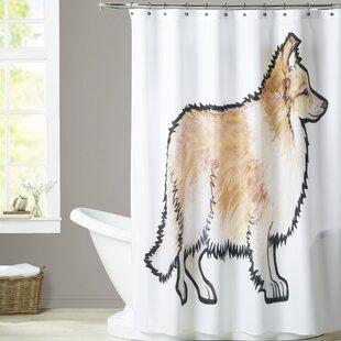 Veach Sheltie Single Shower Curtain