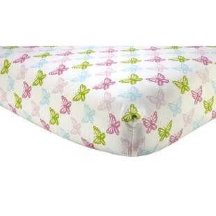 Affordable Darshan Butterfly Fitted Crib Sheet ByHarriet Bee