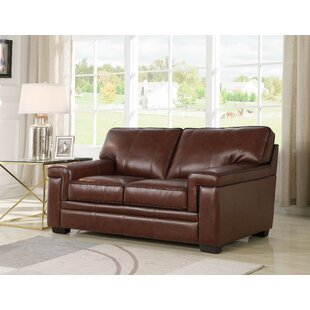 Darby Home Co Ehmann Leather Loveseat