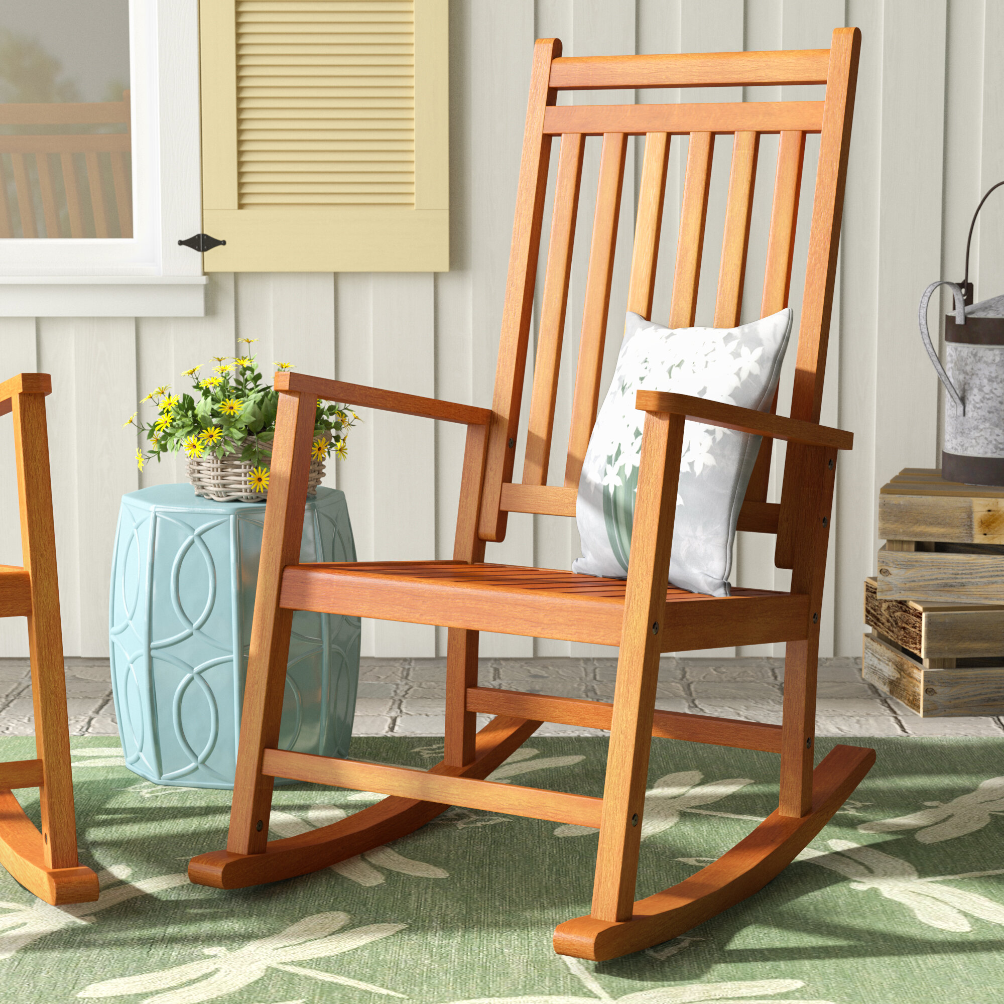 Outstanding August Grove Titouan Hardwood Rocking Chair Reviews Frankydiablos Diy Chair Ideas Frankydiabloscom