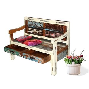 Nath Wood Storage Bench By World Menagerie
