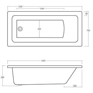 Linton Square Ended Straight Standard Soaking Bathtub by Premier