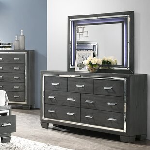 Anthea 7 Drawer Double Dresser with Mirror