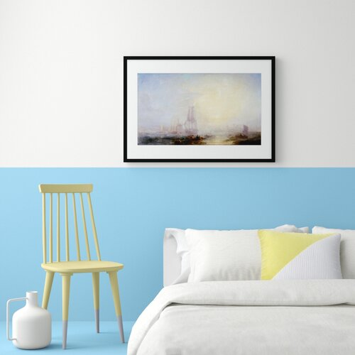 Mouth of the Tyne Painting Marlow Home Co. Format: Framed Paper, Size: 30 cm H x 40 cm W x 2.3 cm D