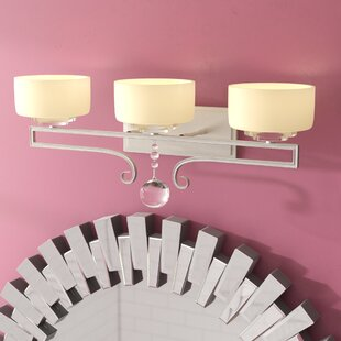 Buy clear Beasley 3-Light Vanity Light By Willa Arlo Interiors