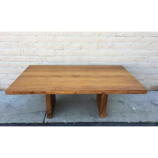 Richas Solid Wood Dining Table Loon Peak