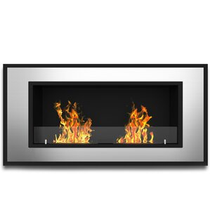 Tulsa Ventless Wall Mount Bio-Ethanol Fireplace by Elite Flame