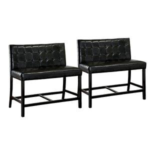Red Barrel Studio Tajana Upholstered Bench (Set of 2)