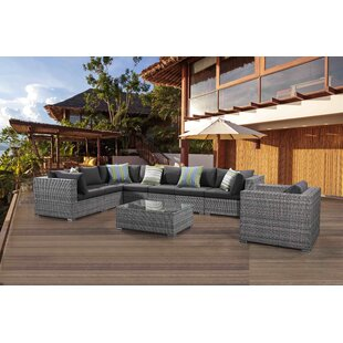 Brayden Studio Sinead 9 Piece Sectional Set with Cushions