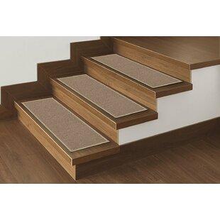 Beason Solid Beige Stair Tread Set Of 14