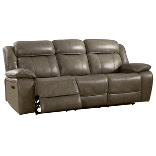 Shop Farrior Leather Reclining Sofa by Red Barrel Studio