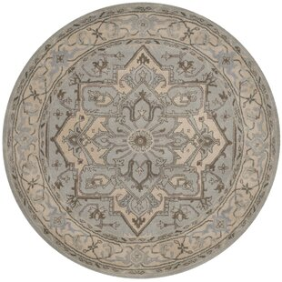 Centralia Hand-Tufted Wool Beige/Gray Area Rug by Greyleigh