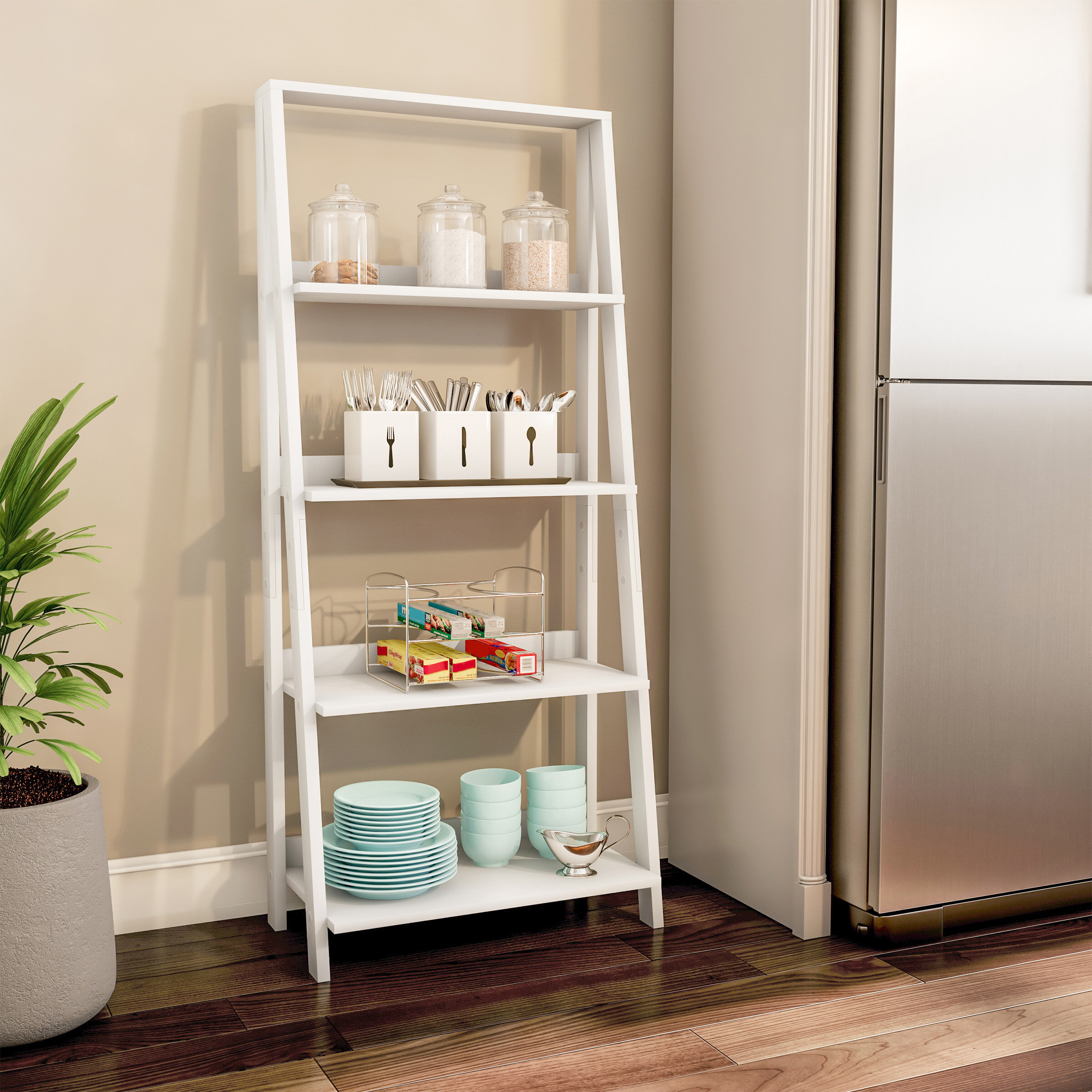 Lavish Home 4 Shelf Ladder Bookcase Reviews Wayfair Ca