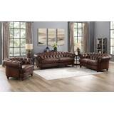 Basso 3 Piece Leather Living Room Set by Alcott Hill