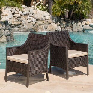 Liggins Patio Dining Chair with Cushion (Set of 2)