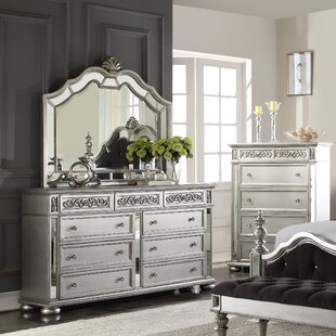 Wightman 9 Drawer Standard Dresser/Chest with Mirror
