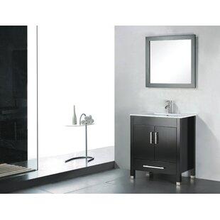 Vidya 36 Single Wood Bathroom Vanity Set with Mirror By Latitude Run