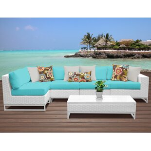Miami 6 Piece Sectional Seating Group with Cushions