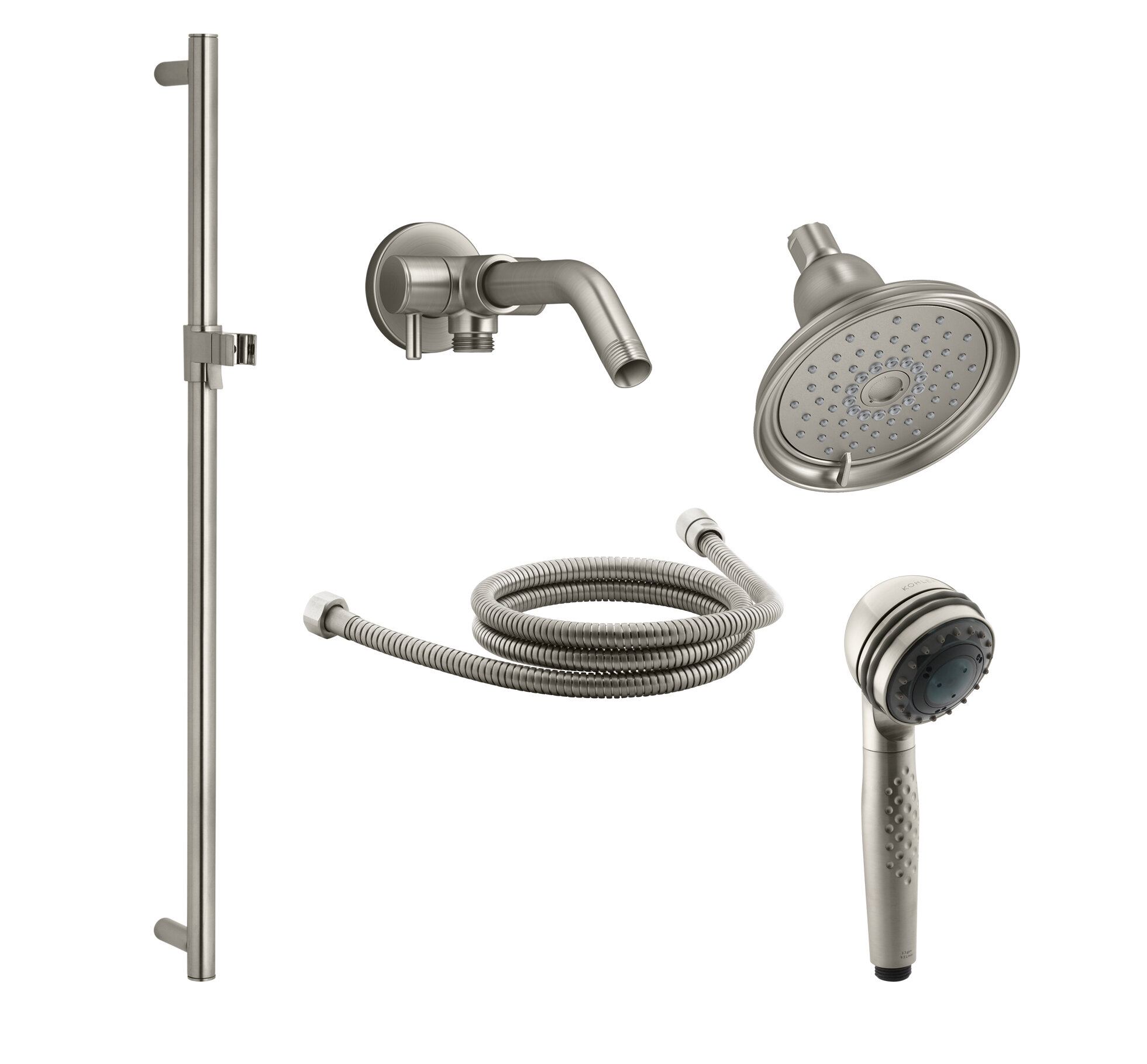 Kohler Bancroft Showering Kit With Multi Function Handshower And Shower Arm Diverter With Rough In Valve