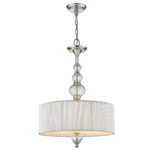 French 3-Light Drum Chandelier by House of Hampton