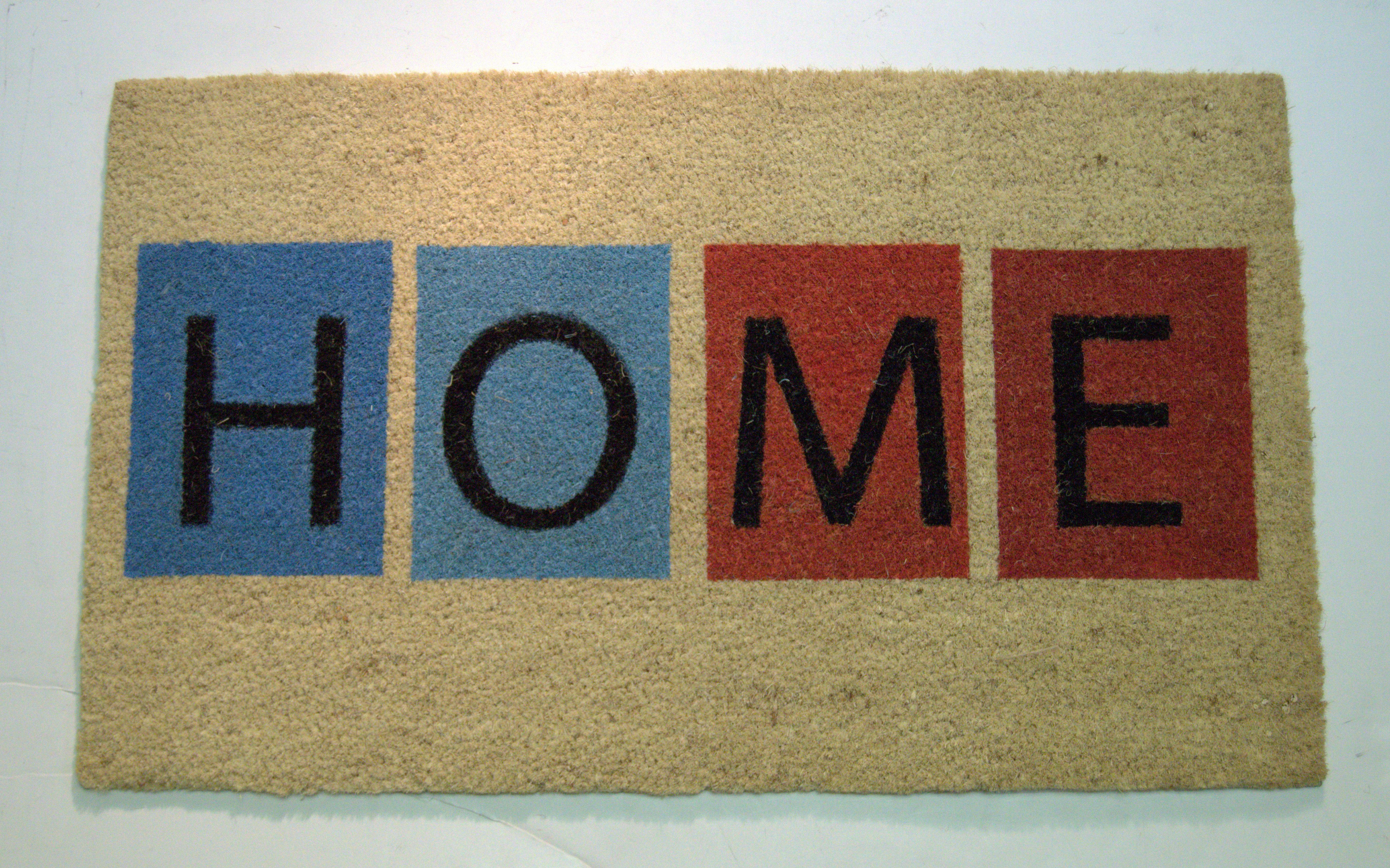 Ebern Designs Tenley Colorblock Home 30 In X 18 In Non Slip Outdoor Door Mat Wayfair