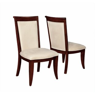 Enders Wooden Upholstered Dining Chair (Set of 2) DarHome Co