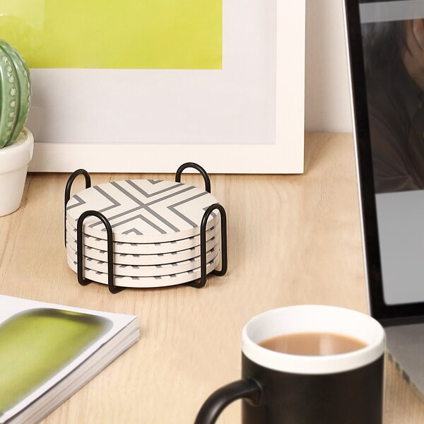 Drink Coasters With Holder Wayfair