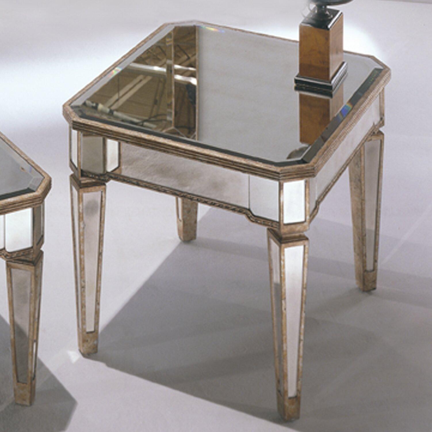 House Of Hampton Sandbach Mirrored Rectangle End Table In