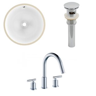 Price Check Ceramic Circular Undermount Bathroom Sink with Faucet and Overflow By Royal Purple Bath Kitchen