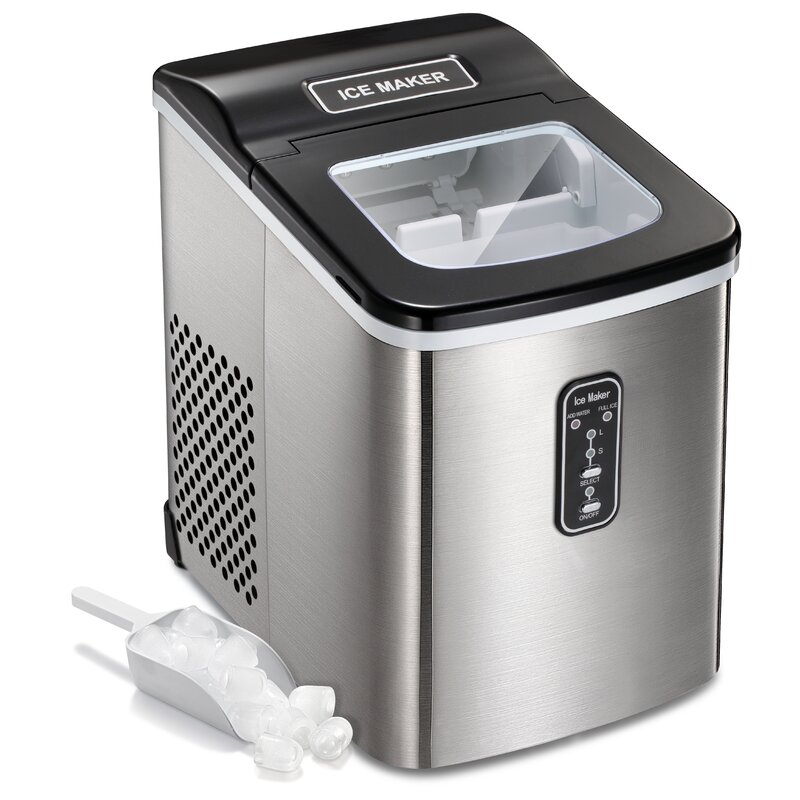 R.W.FLAME 26 lb. Daily Production Freestanding Clear Ice Maker
