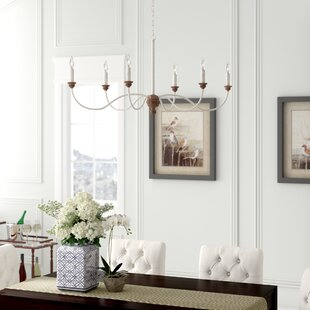 Gracie Oaks Homestown 6-Light Chandelier