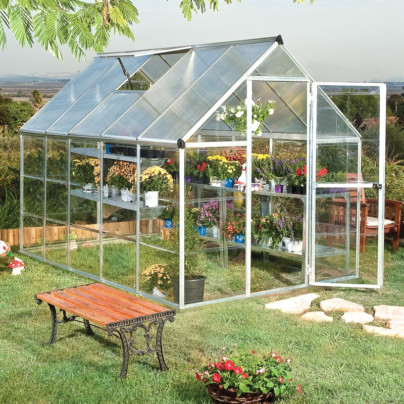 Darby Home Co Shearson 61 Ft W x 102 Ft D Greenhouse  : Shearson61FtWx102FtDGreenhouse from www.wayfair.com size 800 x 800 jpeg 252kB