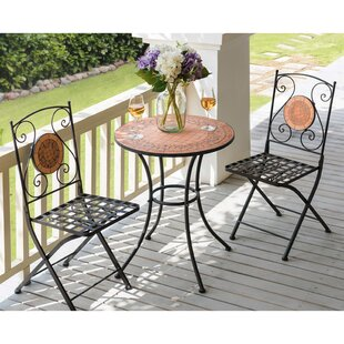 Clowers Ceramic 3 Piece Bistro Set by Fleur De Lis Living