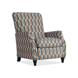 Push Back Stain Glass Fabric Recliner