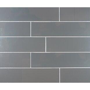 Clic 4 X 16 Ceramic Subway Tile In Dark Gray