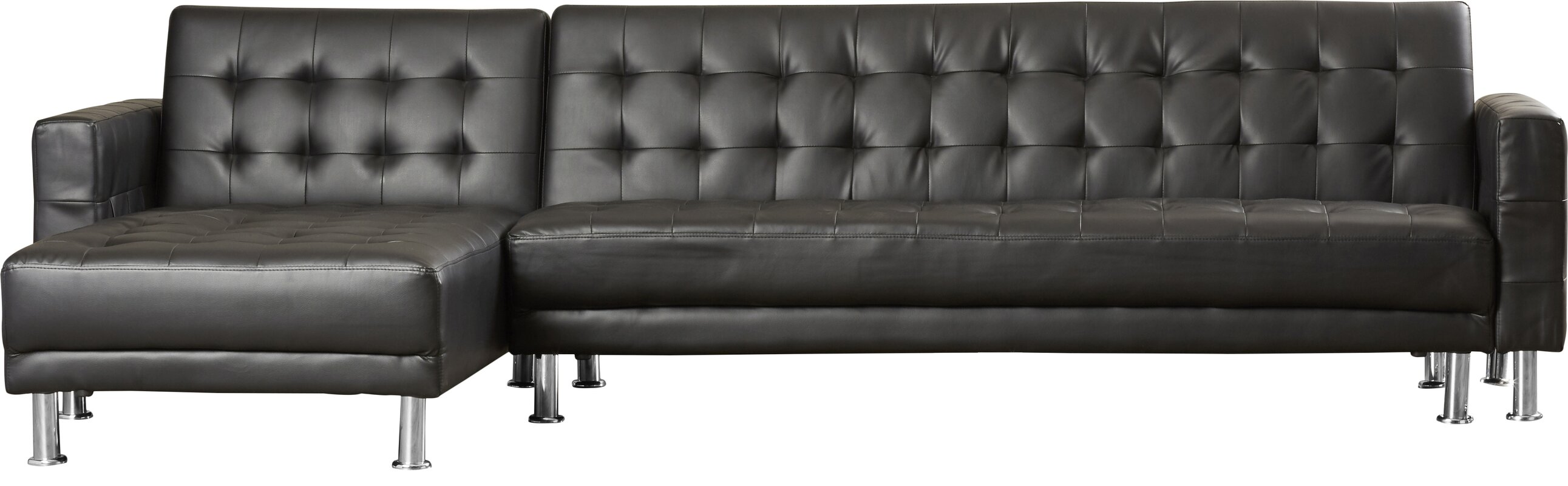 "Marion 116"" Sleeper Reversible Chaise Sectional & Reviews"