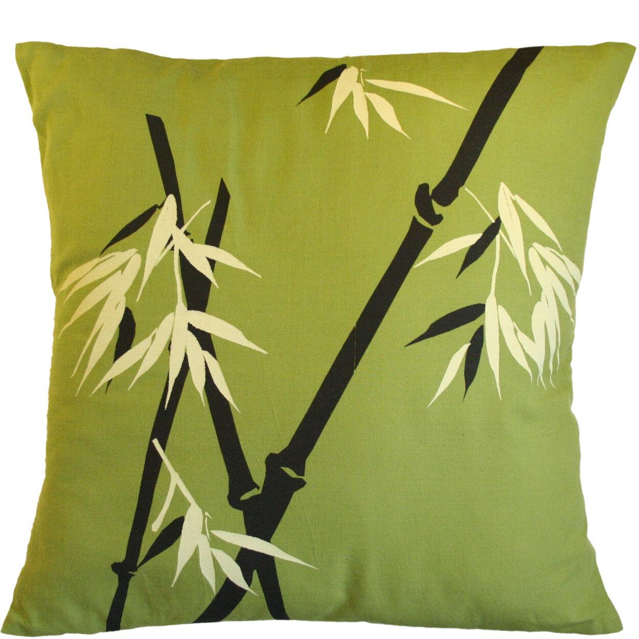Sustainable Threads Wild Bamboo On Moss Cotton Throw Pillow Wayfair