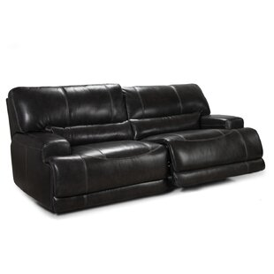 Power Leather Reclining Sofa LYKE Home