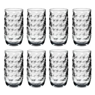 Tacoma Clear Water 23 oz. Acrylic Every Day Glasses (Set of 8)