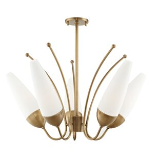 Corrigan Studio Despres 5-Light Shaded Chandelier