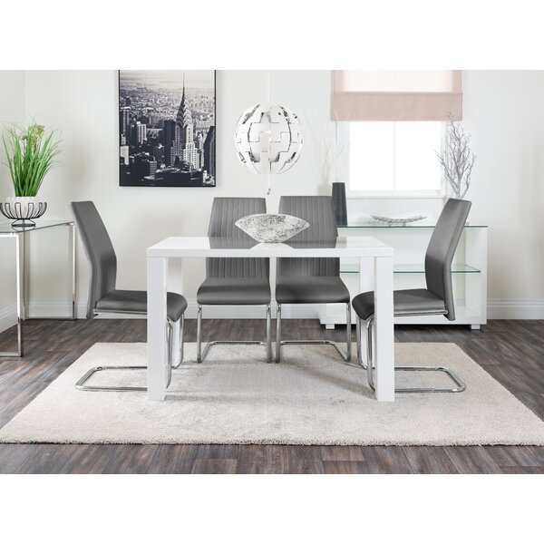Remarkable White Table And Grey Chairs Wayfair Co Uk Ncnpc Chair Design For Home Ncnpcorg
