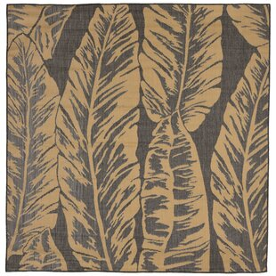 Hunley Banana Leaf Gray/Beige Indoor/Outdoor Area Rug