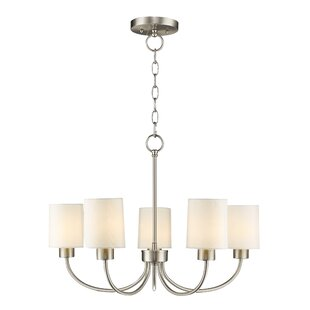 Alcott Hill Graham 5-Light Shaded Chandelier