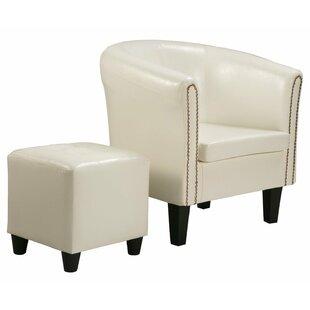 Mercer41 Kay Barrel Chair and Ottoman