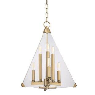 Willa Arlo Interiors Diondre 6-Light Geometric Chandelier