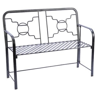 Bows & Circles Wrought Iron Garden Bench