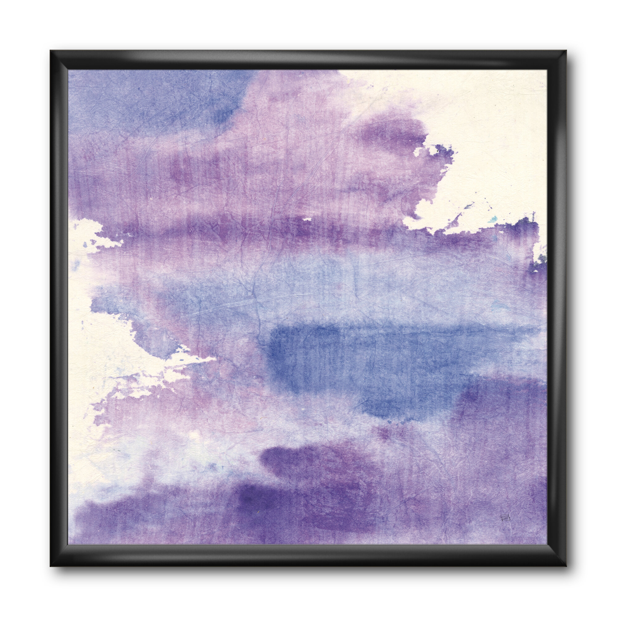 East Urban Home Watercolor Purple Haze I Picture Frame Print On Canvas Wayfair