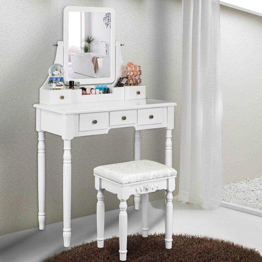 White One Allium Way Makeup Vanities You Ll Love In 2021 Wayfair